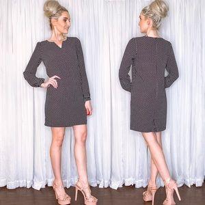 Lila Rose Long Sleeve Black and White Dress